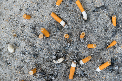 Cigarettes on the ground