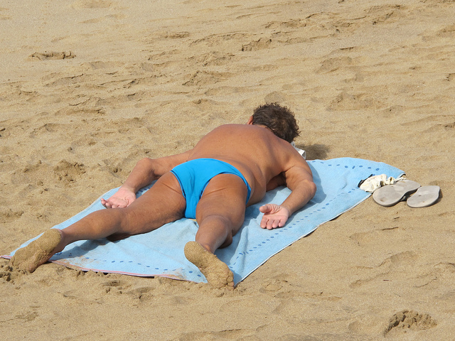 Man Sunbathing by Risager via Flickr