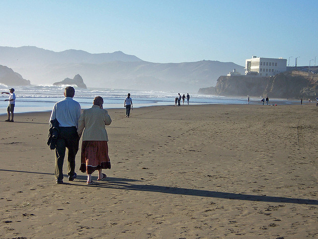 Old Couple on Beach by Sbfisher via Flickr