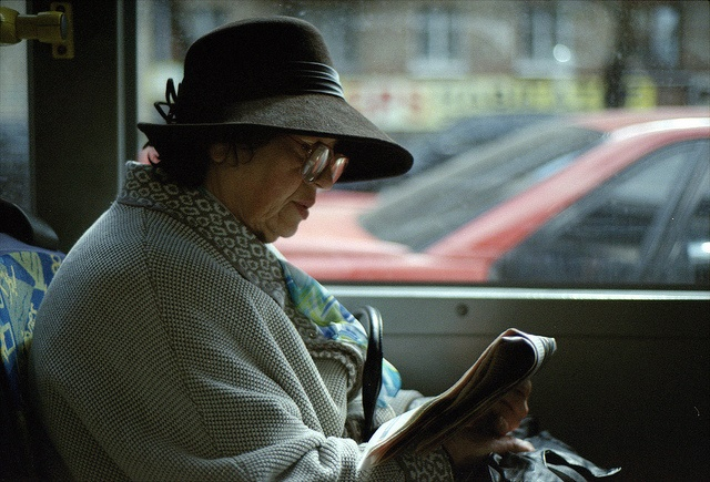 Old lady on bus by Michael Wanderer via Flickr