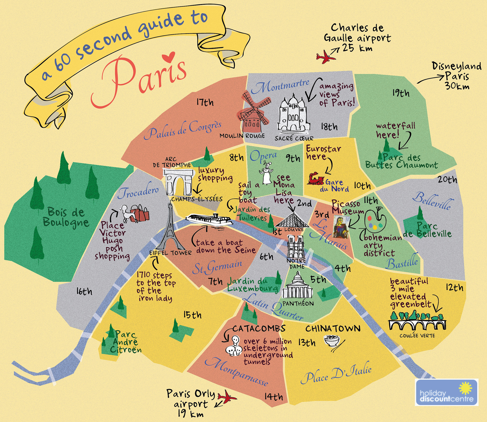 This is an image of Breathtaking Printable Maps of Paris