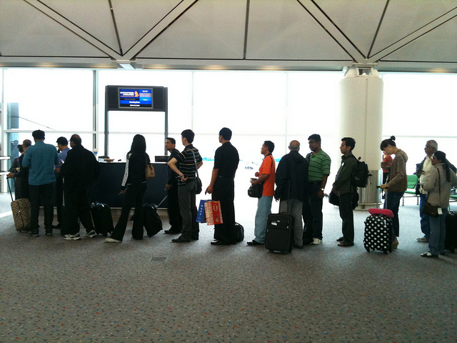 Airport Queue by Gurms via Flickr