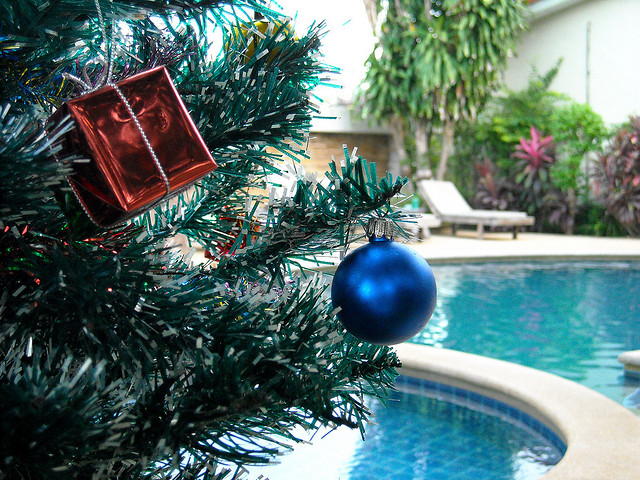 Christmas by the Pool by Sistak via Flickr