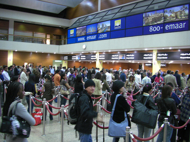 Passport Control Queue by Sergey Vladimirov via Flickr