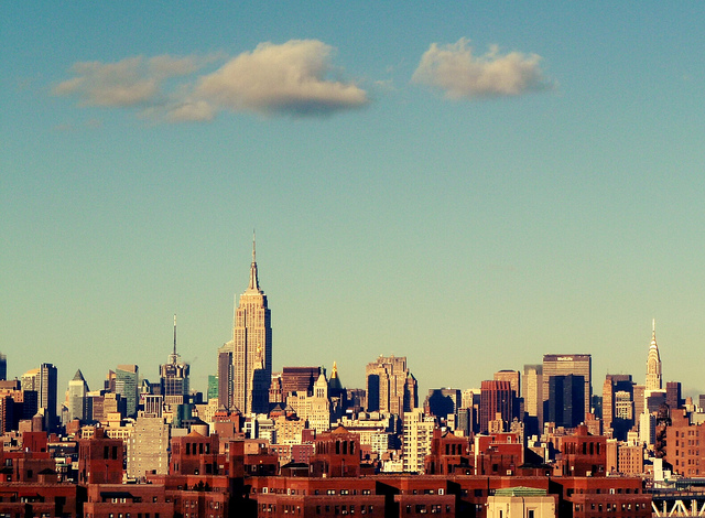 new york skyline via flickr by Loretin