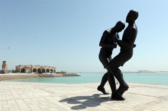 world cup statue via flickr by doha stadium plus