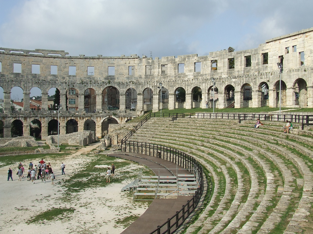 Pula Roman Amphitheatre by Chris Yunker via Flickr