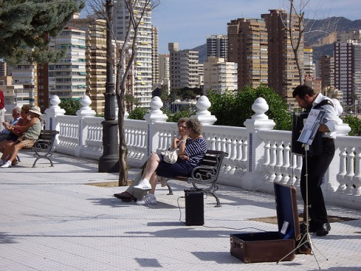Benidorm Street Musician by leumas_1974 via Flickr