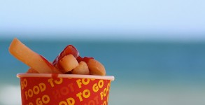 Chips on beach by Will Ockenden via Flickr