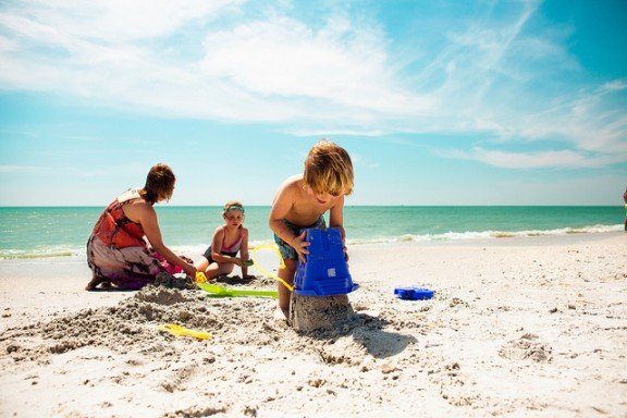 Family on Beach by Visit St.Pete Clearwater via Flickr