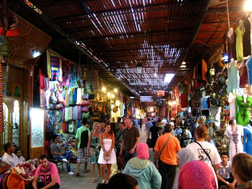 Marrakech souk by James Byrum via Flickr