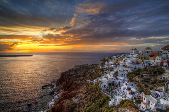 Santorini Sunset by Nikola Totuhov via Flickr
