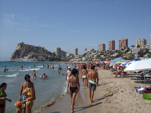 Benidorm beach by Darren Wilkinson via Flickr