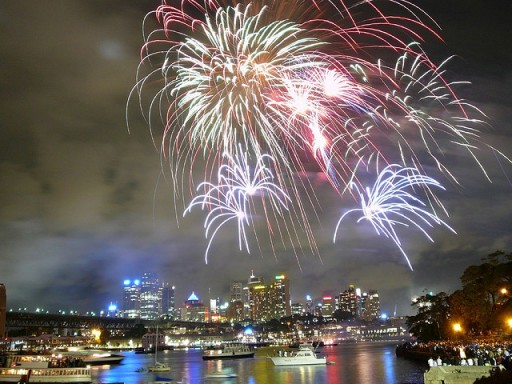 Sydney fireworks by Slippy Slappy via Flickr