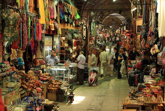 Istanbul Grand Bazaar by Frank Kovalchek via Flickr