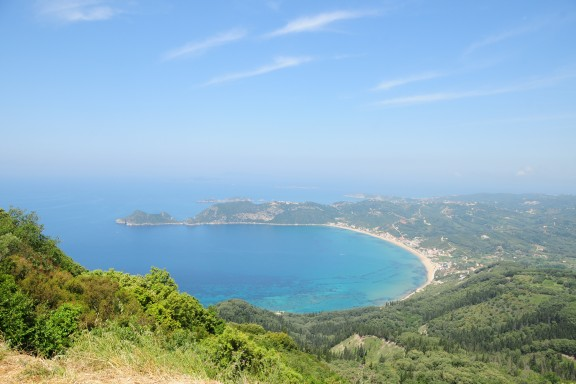 Agios Georgios Bay, looking towards Afionas