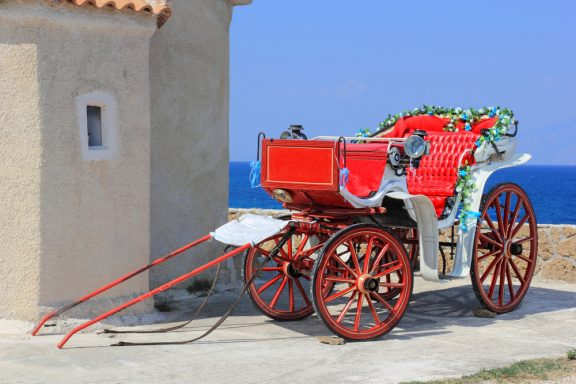 horse carriage zante